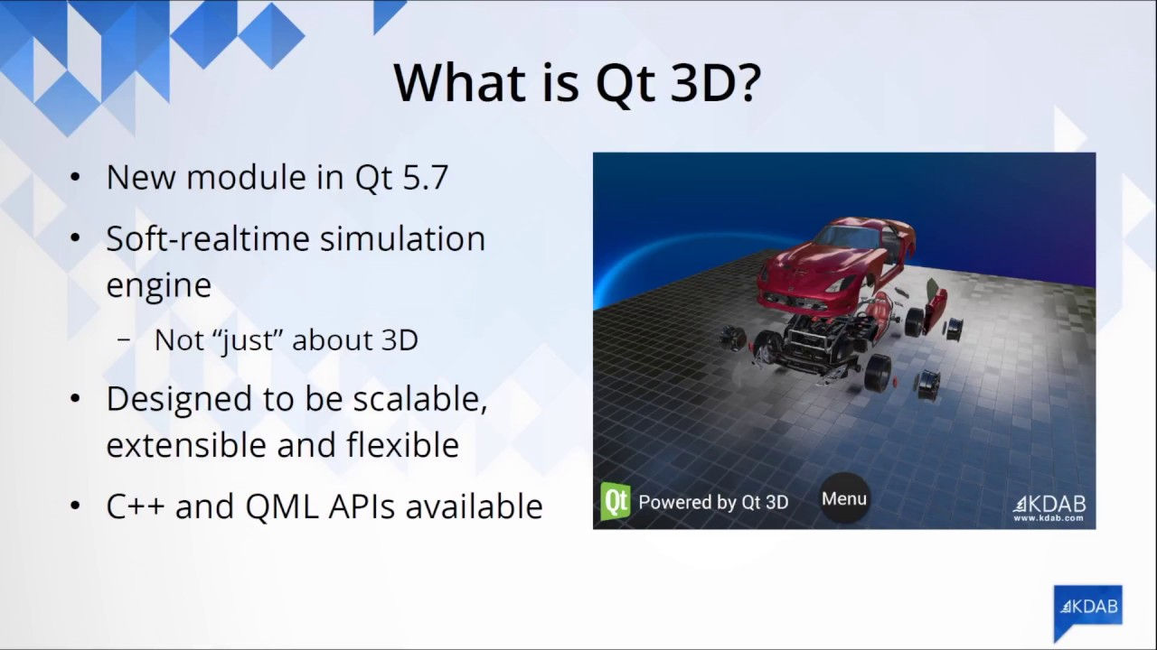 Qt 3D: integrating 3D into user interfaces–Giuseppe D'Angelo, KDAB