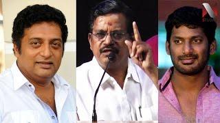வெளுத்துவாங்கும் தாணு - Kalaipuli S. Thanu attacks Vishal & Prakash Raj
