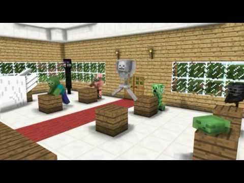 Minecraft Animasyon------Canavarlar Okulu