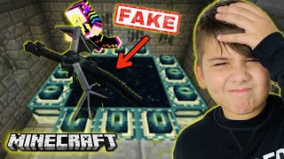 Fake Ender Portal Γιατί δεν τερματίσαμε το Captive Minecraft Famous Games @Let's Play Kristina