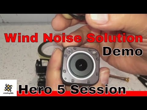 GoPro Hero 5 Session Wind Noise Solution & Demo