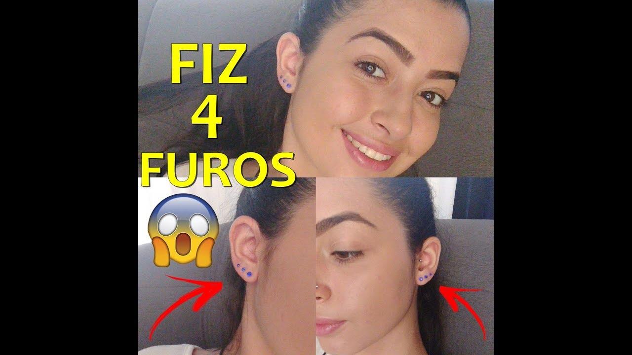 COMO FAZER O 2 E 3 FURO NA ORELHA EM CASA  Bianca Zara  YouTube