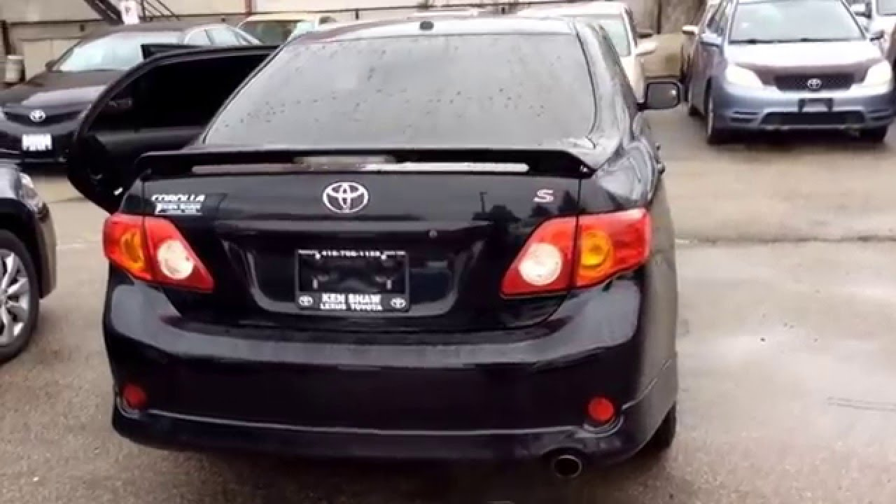 Captivating 2010 Toyota Corolla Sport / Black/ Manual