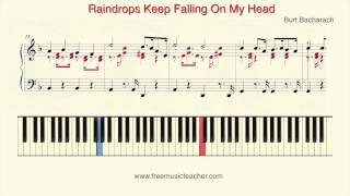 "How To Play Piano: Burt Bacharach ""Raindrops Keep Falling On My Head""  by Ramin Yousefi"