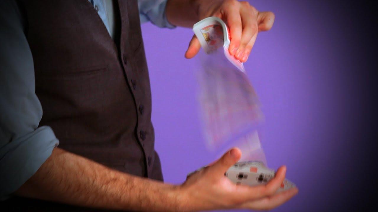 how to do the spring card flourish | coin & card magic - youtube