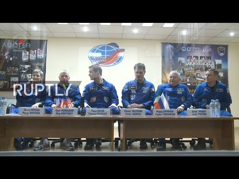 LIVE: Expedition 50 crew holds pre-flight press conference in Baikonur