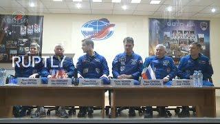 Video LIVE: Expedition 50 crew holds pre-flight press conference in Baikonur download MP3, 3GP, MP4, WEBM, AVI, FLV Februari 2018