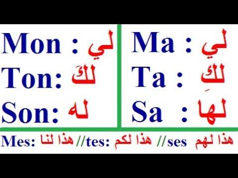 learn French easy : easy French phrases ma, ta , sa , mon , ton, son , mes , tes , ses