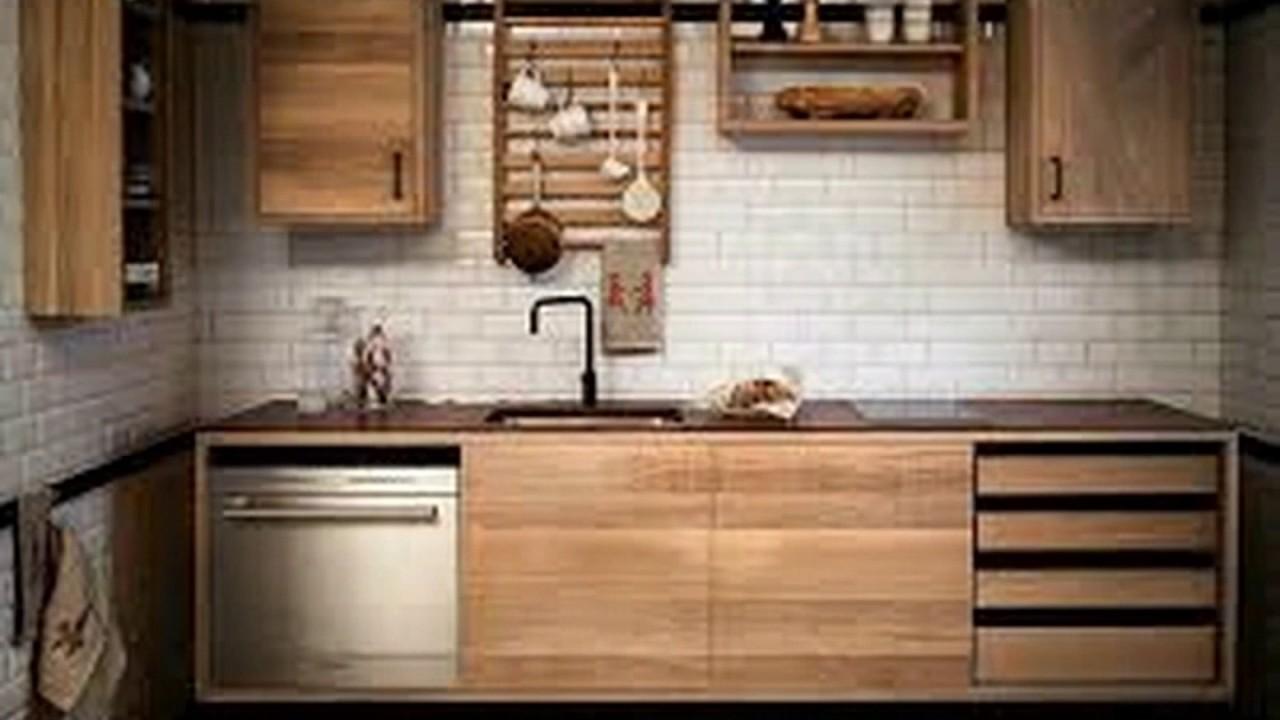 Desain Kitchen Set Dari Kayu Pinus
