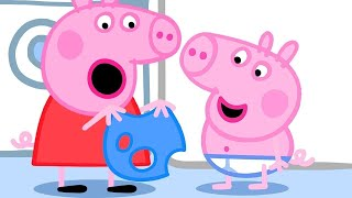 Peppa Pig Full Episodes | Peppa Pig Finds Holes in George's Clothes | Kids Videos