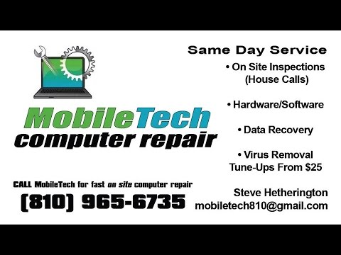 Steve from Mobile Tech Computer Repair Flint Talk Radio