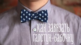 видео Как завязать бабочку из галстука