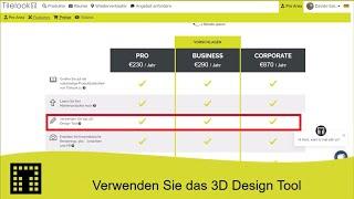 Verwenden Sie das 3D-Design-Tool