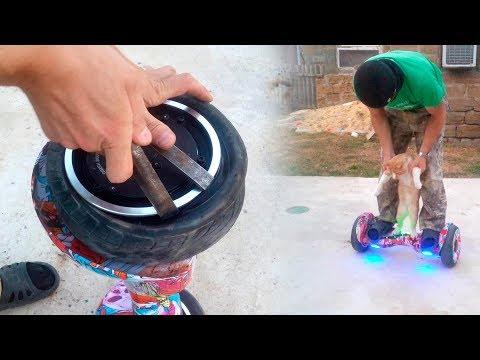 Как снять колесо гироскутера
