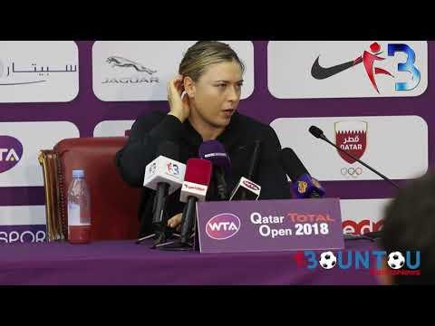 Conférence de presse Maria Sharapova apres match Qatar Total Open 2018