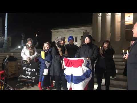 Live with 100's of prolifers at the Supreme Court before the pro-life candlelight vigil