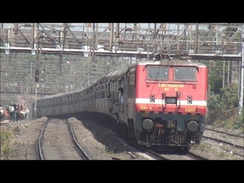 Express Trains captured on Western Railway & Central Railway behind 5000HP WAP-4 Locomotives