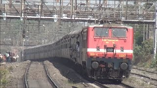 Express Trains captured on Western Railway & Central Railway behind 5000HP WAP-4 Locomotives