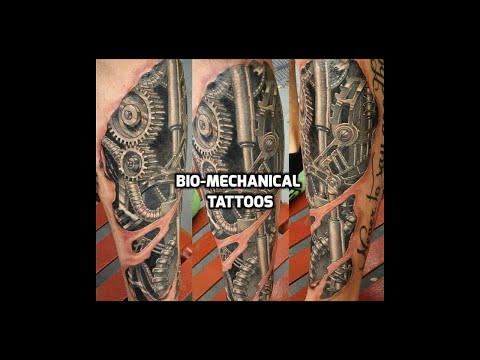 Bio Mechanical Tattoos - Best Bio Mechanical Tattoo Ideas