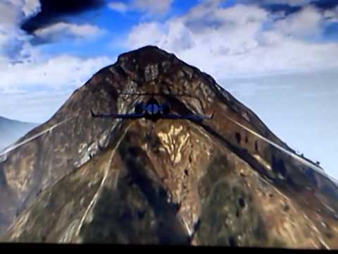 How to land a luxor on mt chilliad in gta v