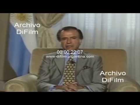 DiFilm - Mensaje de Carlos Menem tras la perdida de su hijo 1995