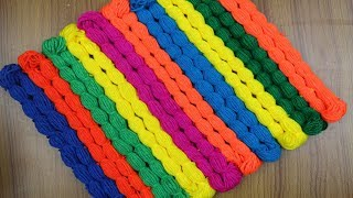 Amazing!! Doormat Making Idea || How To Make Doormats at Home | Woolen Doormats - Handmade Doormat