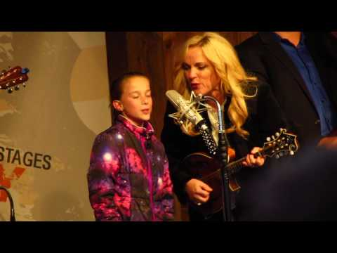 Jolene, Rhonda Vincent and The Rage, plus a girl from the audience!