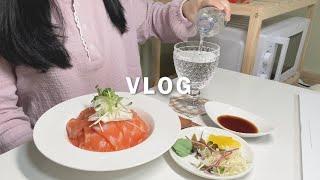 ENG) vlog 자취생 브이로그(로제찜닭, 컵라면 볶…