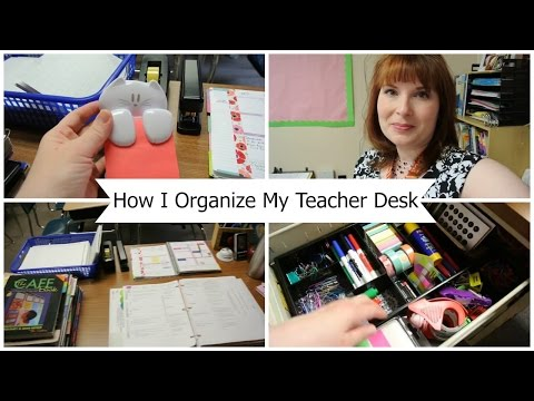 🍎 How I Organize My Teacher Desk| Tina Bietler