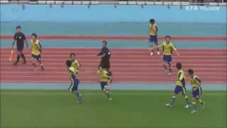 座間高校勝利の喜びシーン 2013.11.3高校サッカー選手権 神奈川予選準決勝