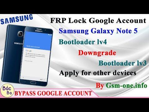 ازالة FRP لجهاز NOTE 5 N920C اصدار 7 0 حماية U4 REV4 بدون