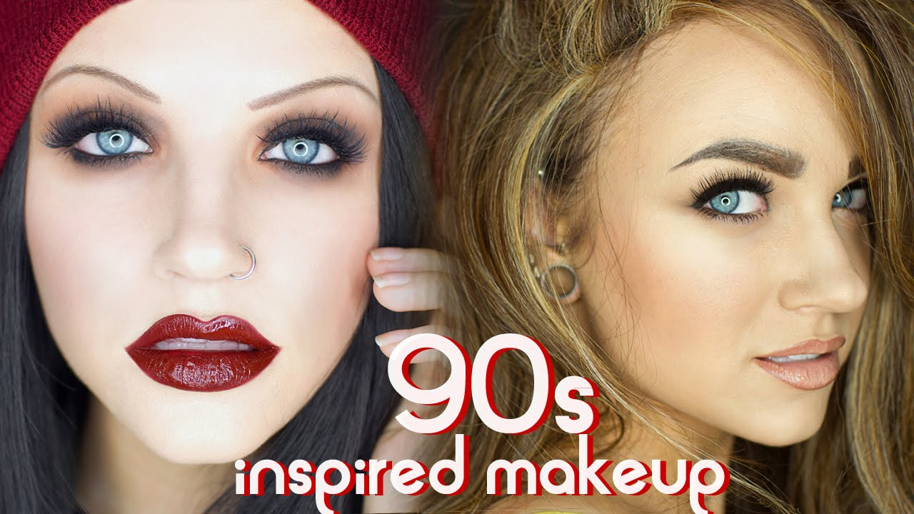 90s Grunge Supermodel Glam Makeup Tutorial Youtube - Grunge-makeup-90s