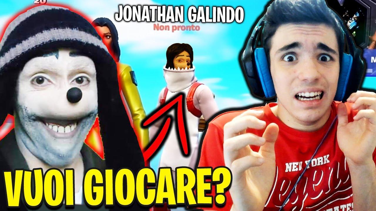 JONATHAN GALINDO mi HA SCRITTO su FORTNITE!! HO RISPOSTO E...😱*non dovevo farlo*