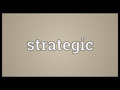 Strategic Meaning