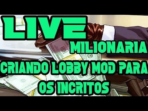 gta v online -lIVE MILIONARIA CRIANDO LOBBY MOD  E ESPERANDO A CAPTURA DO ONE