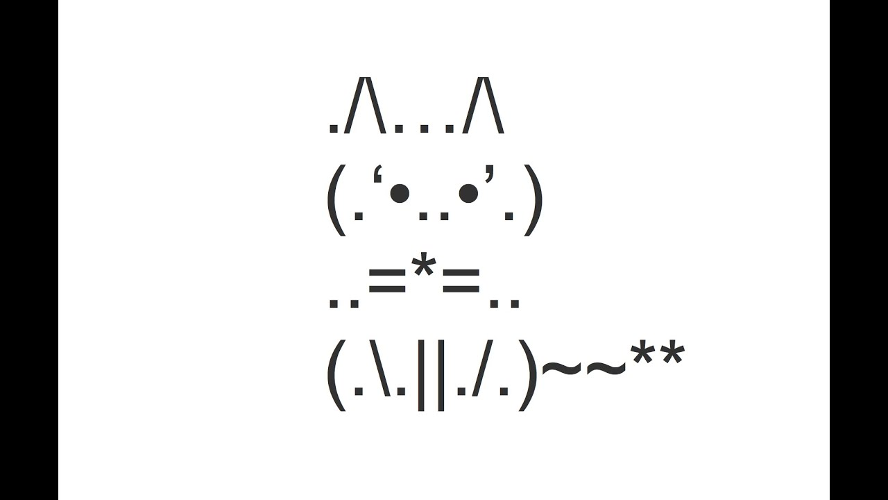 Sitting Cat Front View Copy And Paste Text Art Youtube