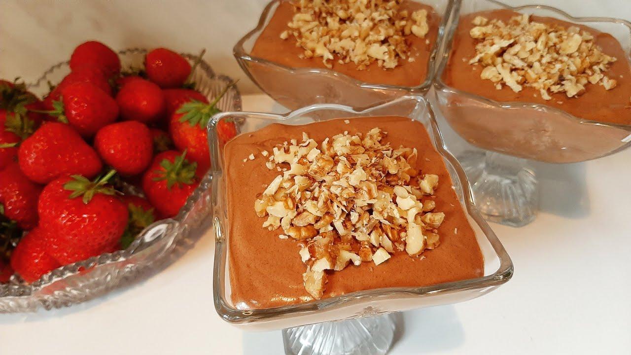 Download Դեսերտ Շոկ մանժե🍫  Десерт шок-манже👍 Chocolate Dessert Cream Shok Manje