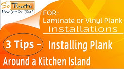 how to install laminate or vinyl plank around an island