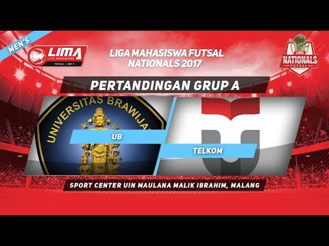 UB vs TELKOM di LIMA Futsal Nationals 2017 (Men's)