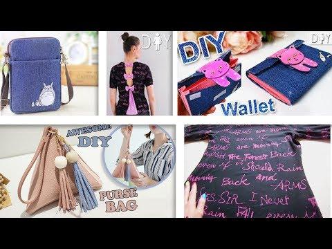 SUPER DIYs OLD CLOTH RECYCLE INTO CUTE BAGS & T-SHIRT // Cool DIY Bag Tutorials