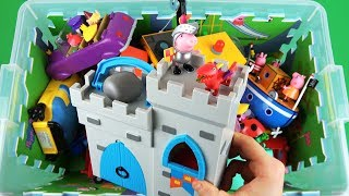 Learn characters, colors, vehicles with Toys in box for kids...