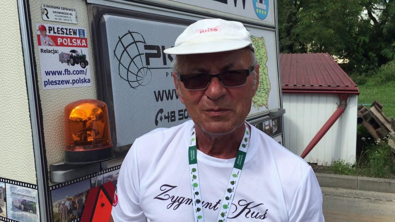 Zygmunt Kuś traktorem dookoła Polski