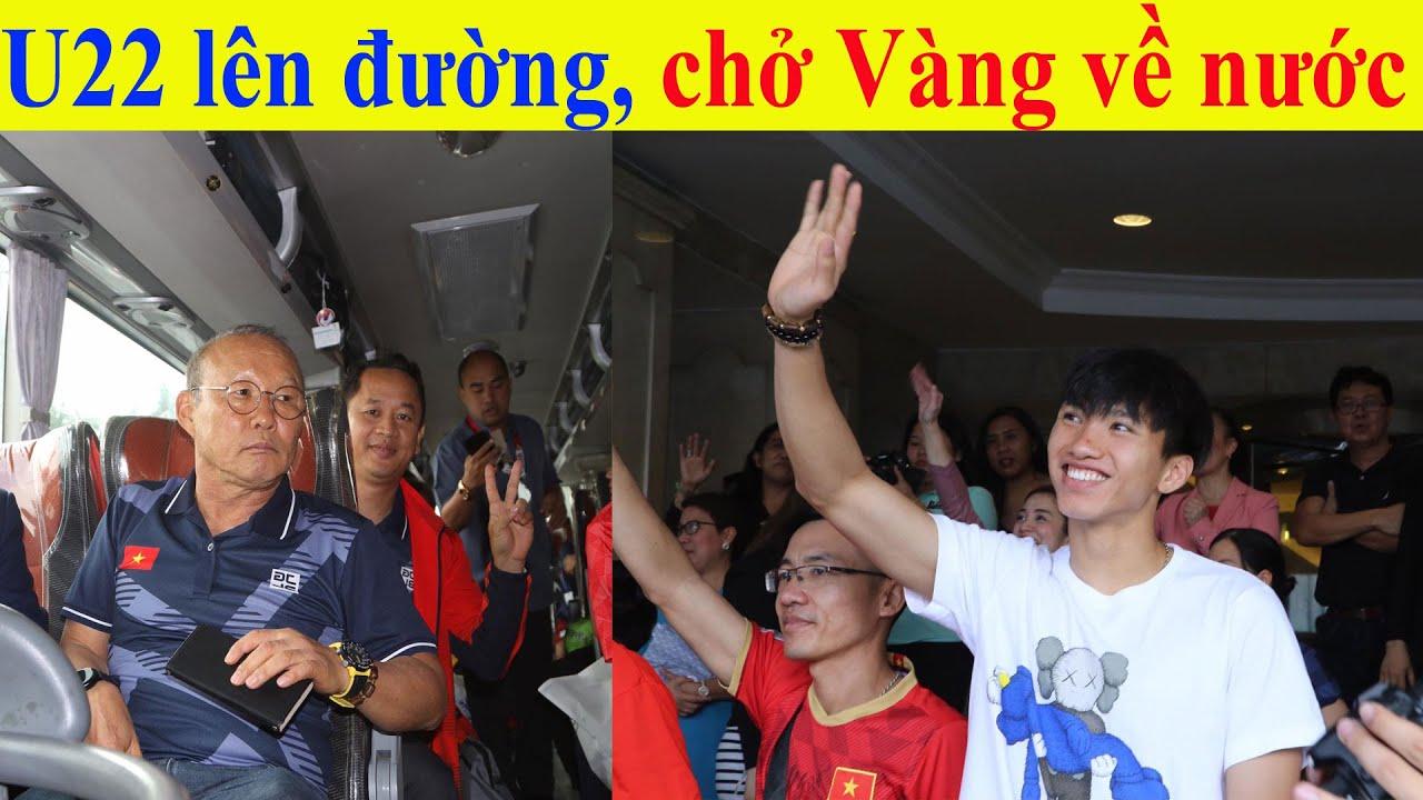 TRỰC TIẾP: U22 Việt Nam lên chuyên cơ chở đầy vàng về nước