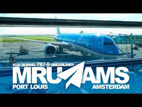 TRIP REPORT | KLM 787-9 Dreamliner Economy from Mauritius | MRU-AMS