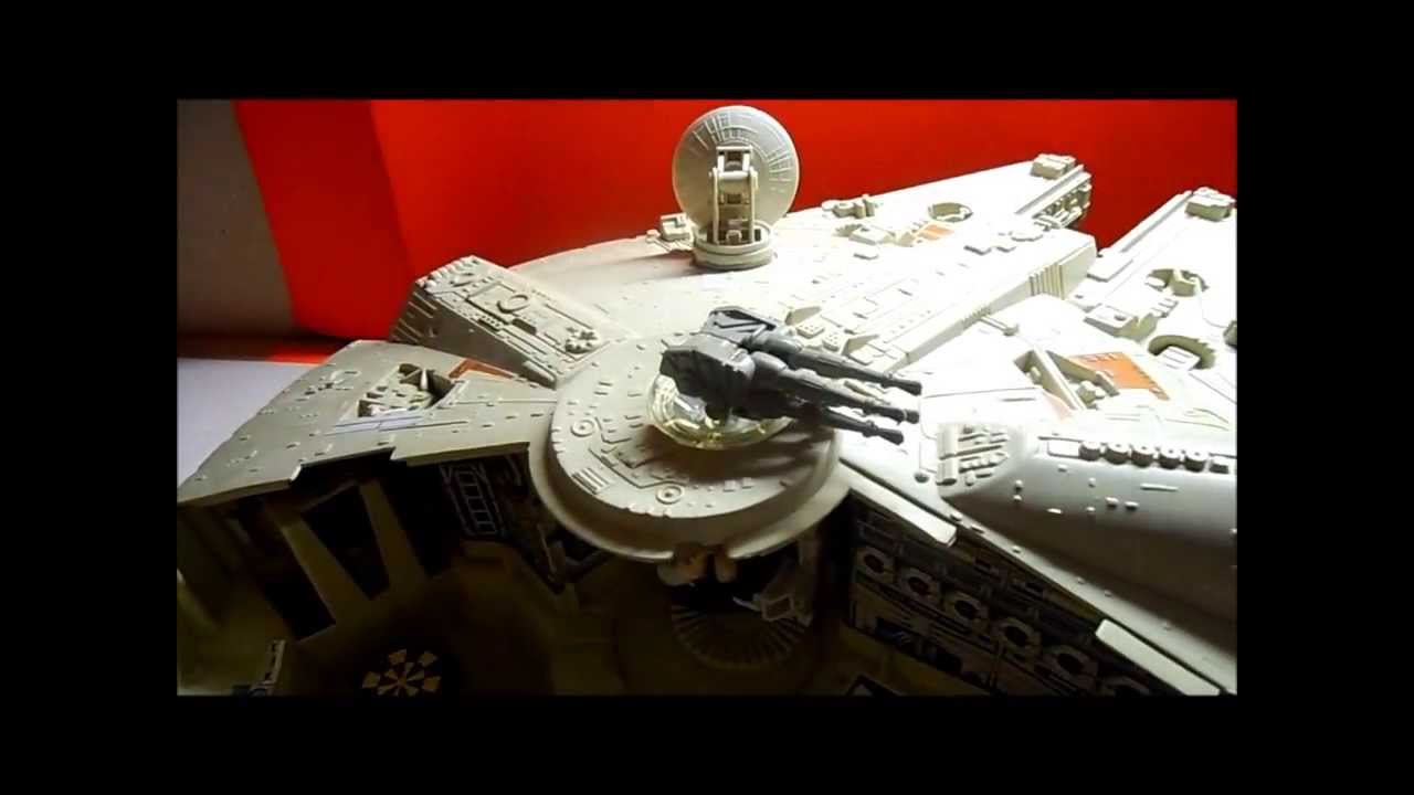 Star wars millenium falcon vintage toy review - YouTube