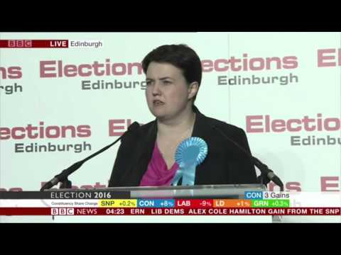 Ruth Davidson Wins Edinburgh Central Constituency From SNP