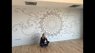 ALINA SHALEV - Opti-Life Yoga Studio - Mandala Painting Time Lapse