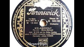 Melancholy   Jack Winn (Johnny Dodds´ Black Bottom Stompers)