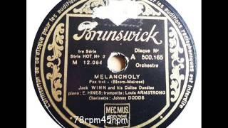 Melancholy   Jack Winn (Johnny Dodds´ Black Bottom Stompers)