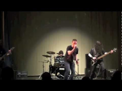 Riverside High School 2012 Talent Show - Amon Amarth 'Death In Fire' Band Cover!